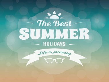 Summer typography vector design vintage vacation poster