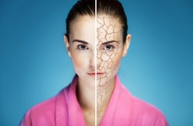Skincare cosmetic effect, treatment of dry skin