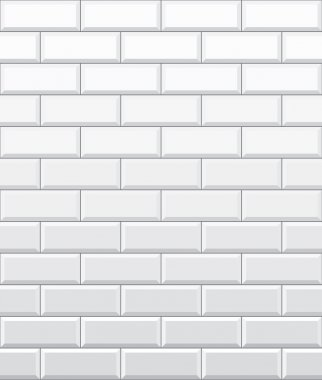 Seamless white brick wall pattern, vector wallpaper