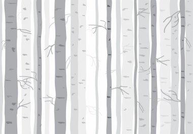 Seamless tree wallpaper, trees vector pattern