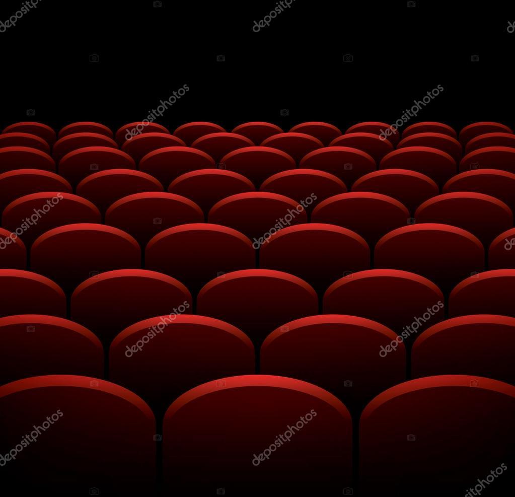 Wiersze O Kino Czy Teatr Tło Wektor Czerwone Fotele