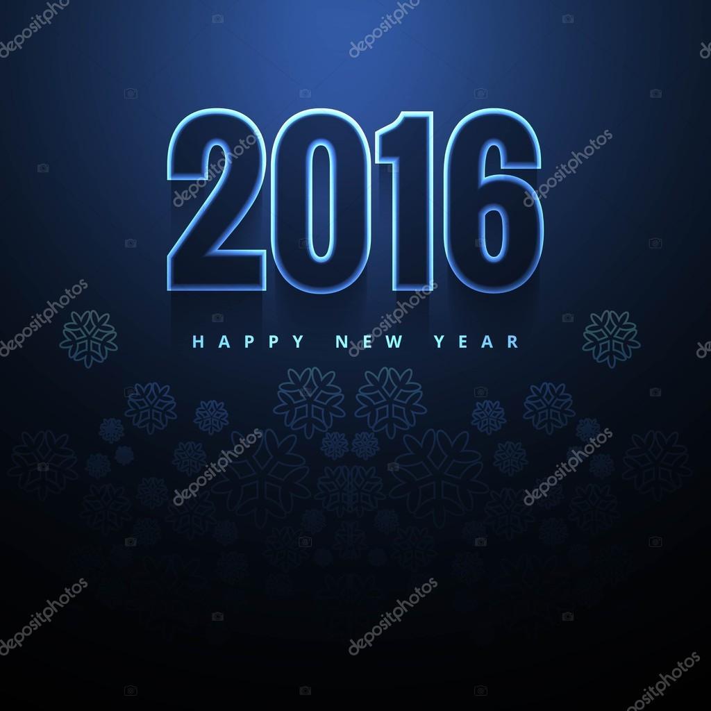 dark blue new year 2016 background stock vector