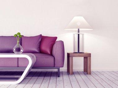3d modern room interior