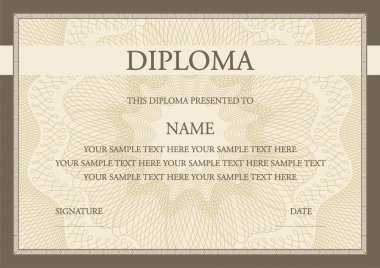 Vector illustration of diploma certificate