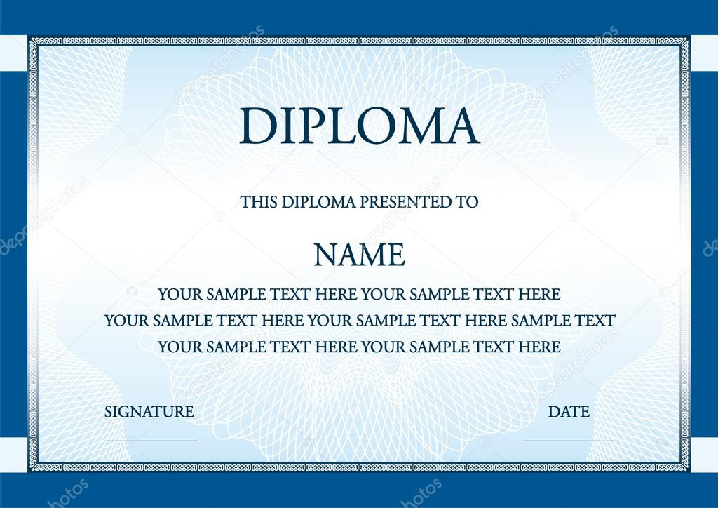 Vector illustration of blue diploma certificate ⬇ Vector Image by ©  medishore   Vector Stock 52629531
