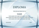 Photo Vector illustration of blue diploma certificate