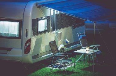 Travel Trailer Camping Setup