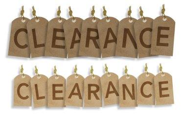 Clearance Vintage Labels