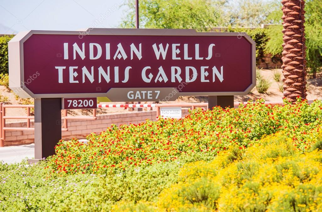indian wells tennis garden stock photo - Indian Wells Tennis Garden