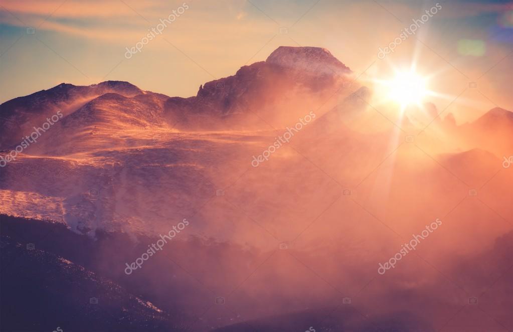 Sunny Mountain Landscape