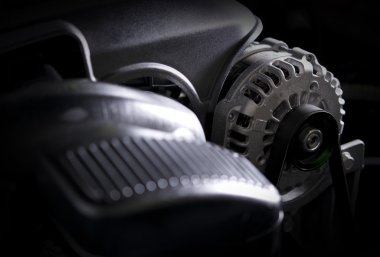 Car Alternator Closeup