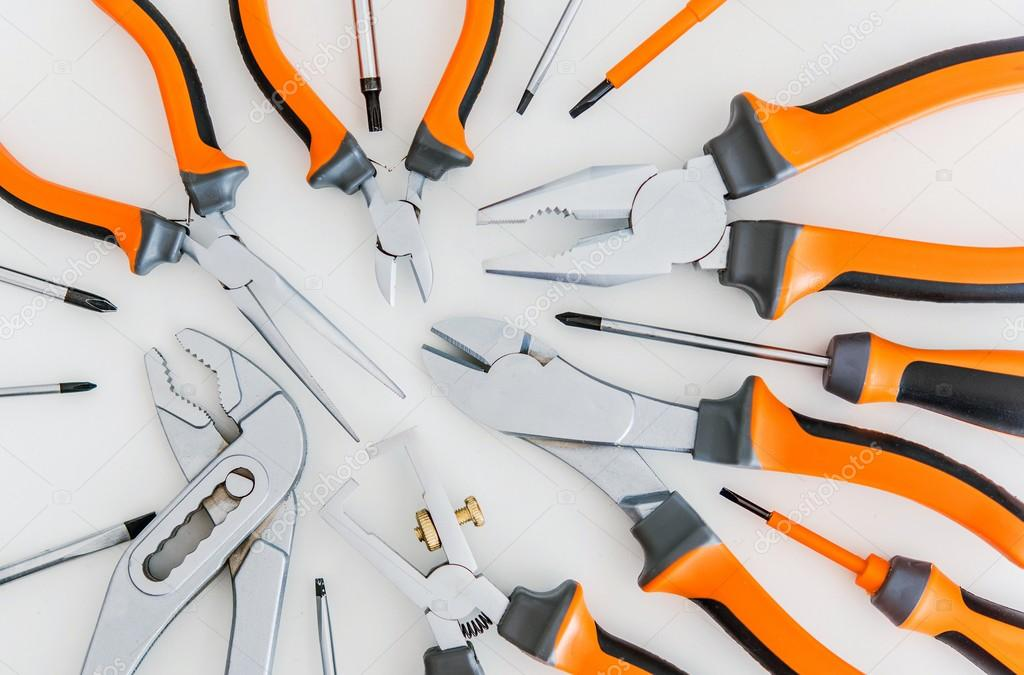 Set of Tools on White