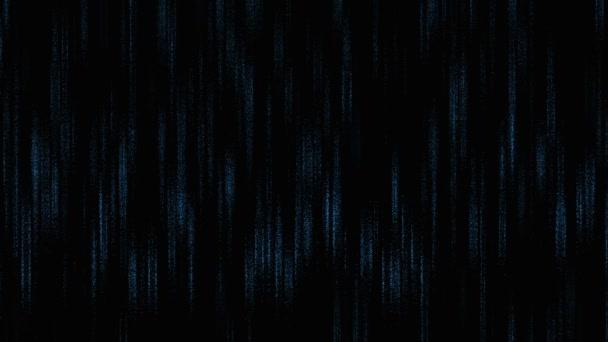Digital blue rain