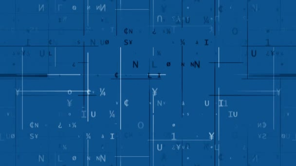 Digitální kód modré pozadí