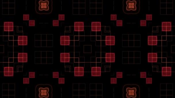 Třpytivé červené obrazce