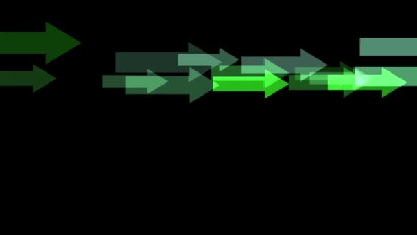 Moving Green arrows