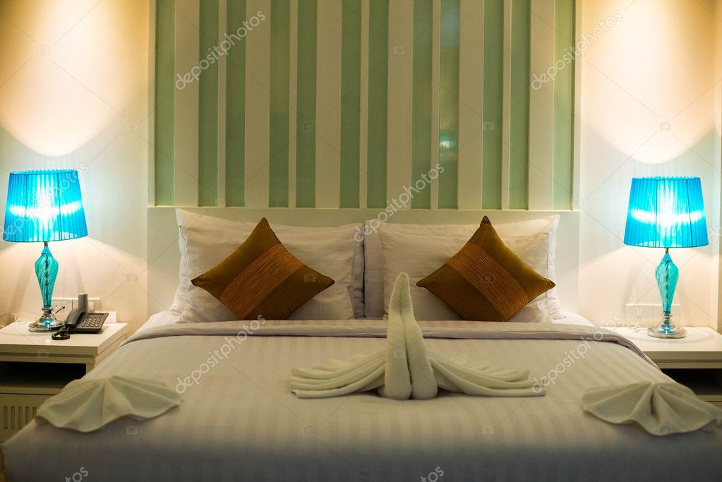 Double bed in the modern interior room u stock photo yuri