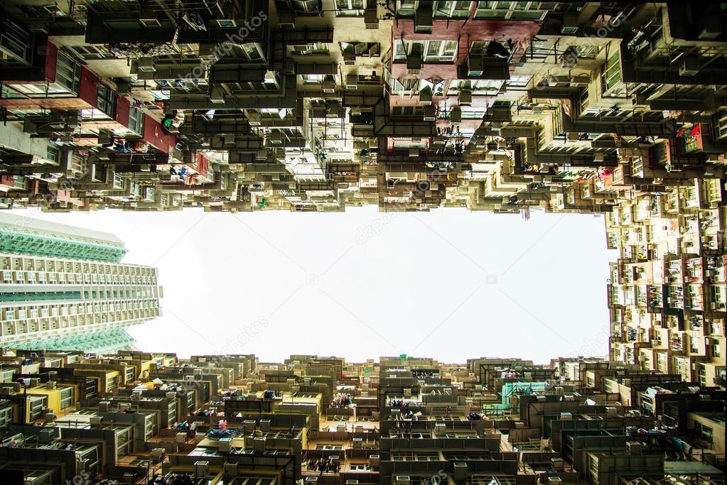 Alten Wohnung in Hong Kong, teils Tranformer Szene — Stockfoto ...