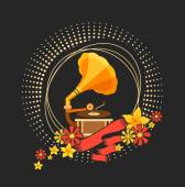 Hudební retro gramofon
