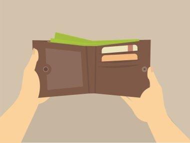 wallet in the hands