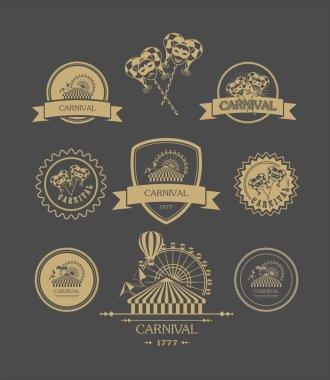 Carnival vintage badges