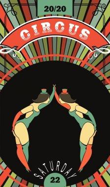 Circus dancer poster