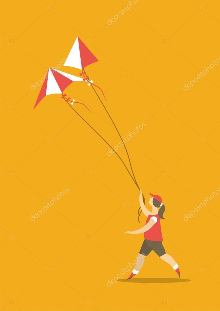 Girl and kite