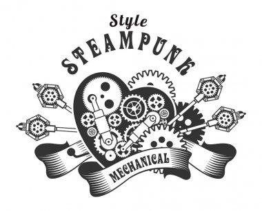 Steampunk mechanism heart