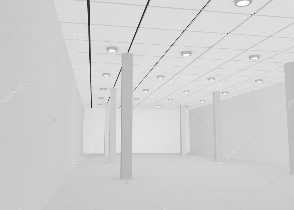 Ufficio Per Negozio : Stanza vuota bianca per un negozio o un ufficio u2014 foto stock
