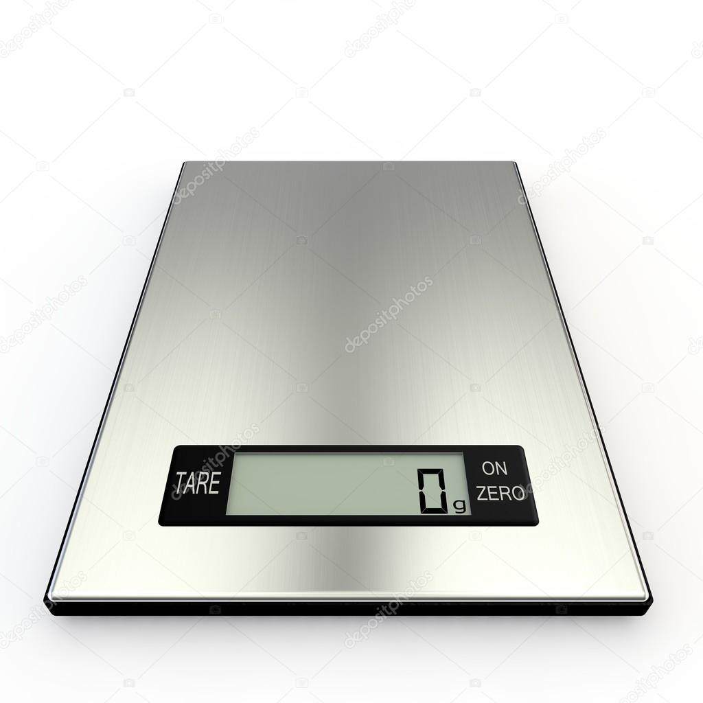 Elektronische Küchenwaage zeigen NULL Gramm — Stockfoto © injenerker ...