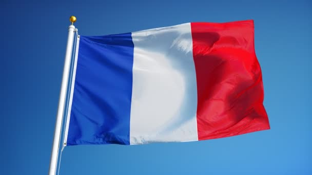 Vlajka Francie v pomalém pohybu plynule tvořili s alfa