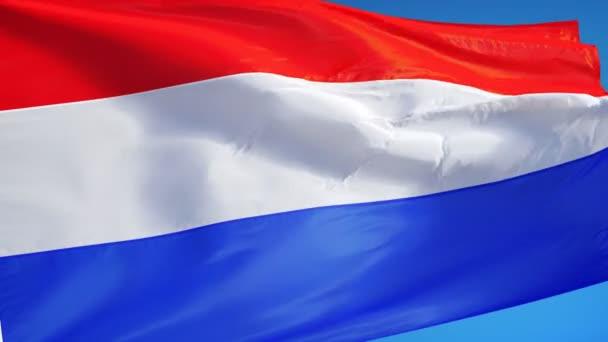 Vlajka Holandska v pomalém pohybu plynule tvořili s alfa