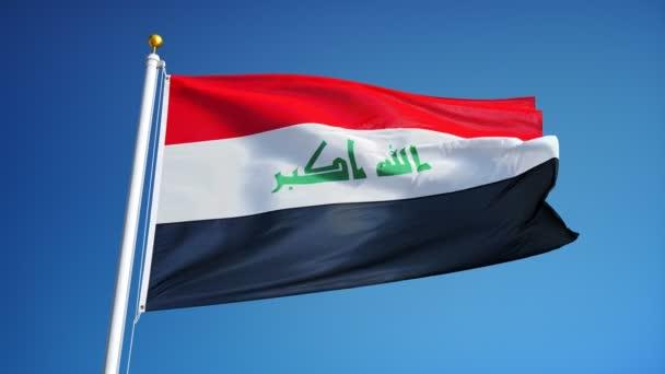 Vlajka Iráku v pomalém pohybu plynule tvořili s alfa