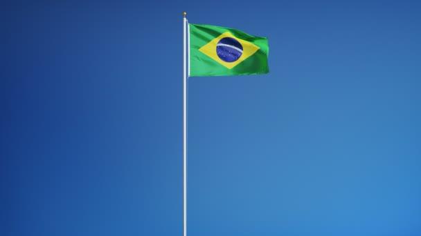Brazília zászló zökkenőmentesen végtelenített alfa lassítva