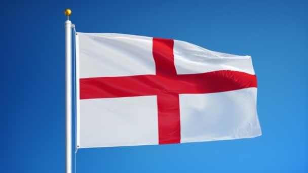 Vlajka Anglie v pomalém pohybu bez problémů se smykem alfa