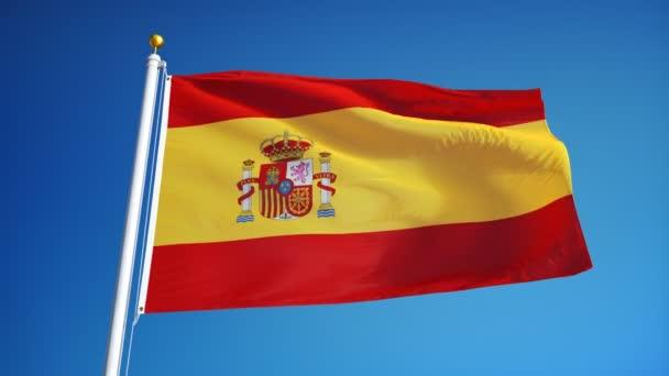 Spanyolország zászló lassítva zökkenőmentesen végtelenített az alfa