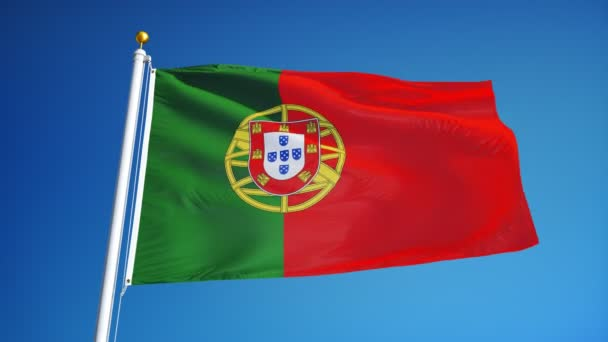 Portugália zászló lassítva zökkenőmentesen végtelenített az alfa
