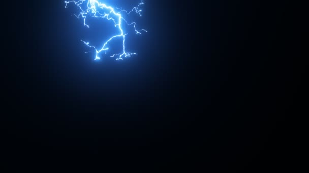 Ultra super slow motion lightning discharge, high speed camera shot.