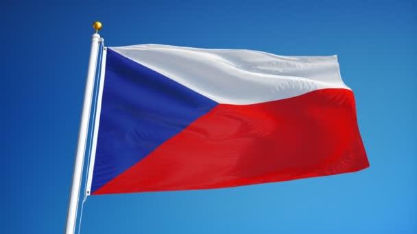 Česká vlajka v pomalém pohybu plynule tvořili s alfa