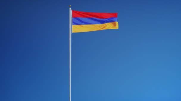 Örményország zászló zökkenőmentesen végtelenített alfa lassítva
