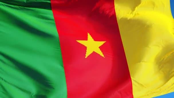 Vlajka Kamerunu v pomalém pohybu plynule tvořili s alfa