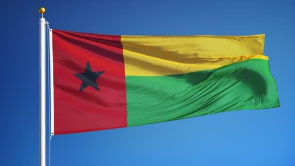 Bissau-Guinea zászló zökkenőmentesen végtelenített alfa lassítva