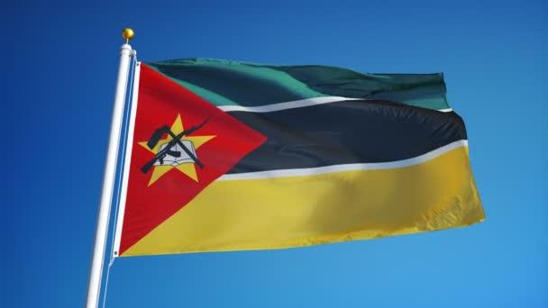 Mozambik zászló zökkenőmentesen végtelenített alfa lassítva