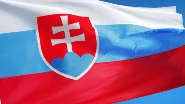 Slovensko vlajka v pomalém pohybu hladce s alfa