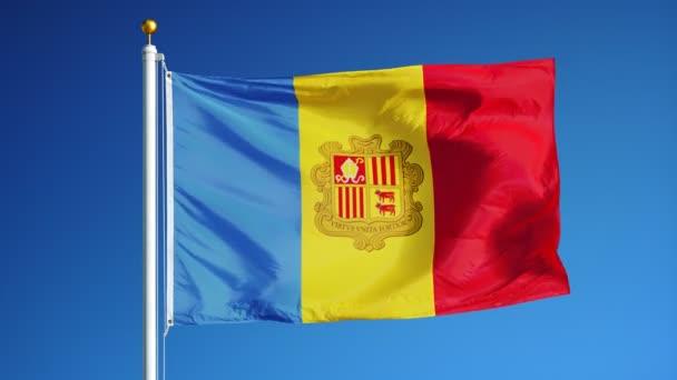 Andorra lobogó lassított zökkenőmentesen végtelenített alfa