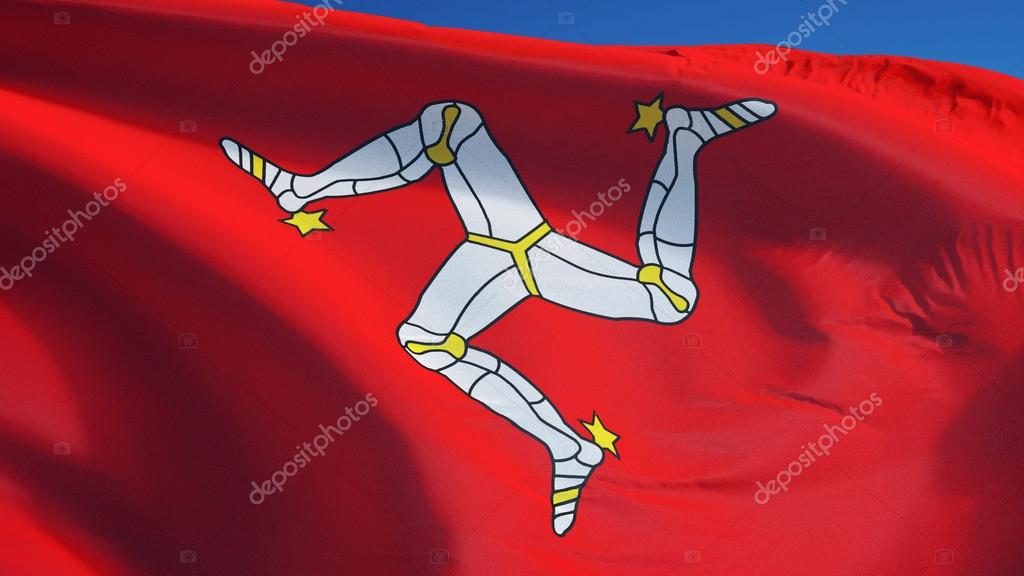 isle of man flag isolated with clipping path alpha channel