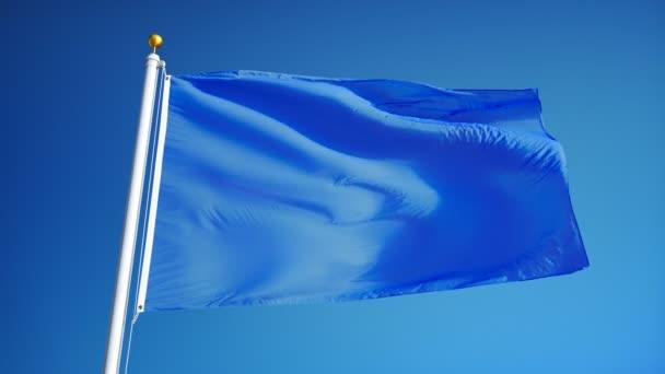 Világoskék zászlót lassítva zökkenőmentesen Hurrá az alfa
