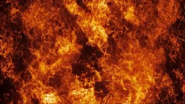 Inferno požární stěna v pomalém pohybu