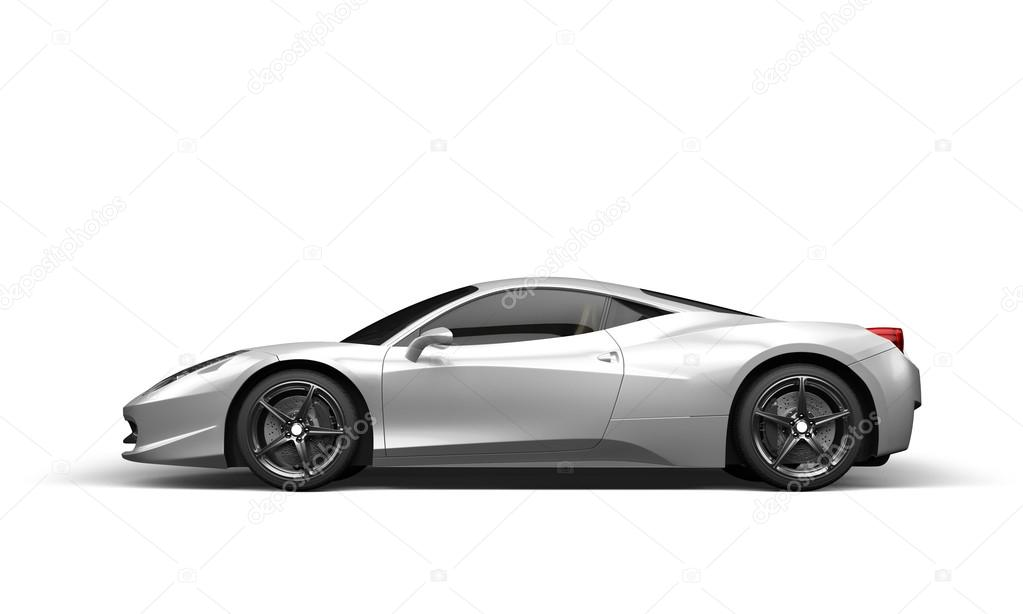 Super Sport Car On White Background U2014 Stock Photo