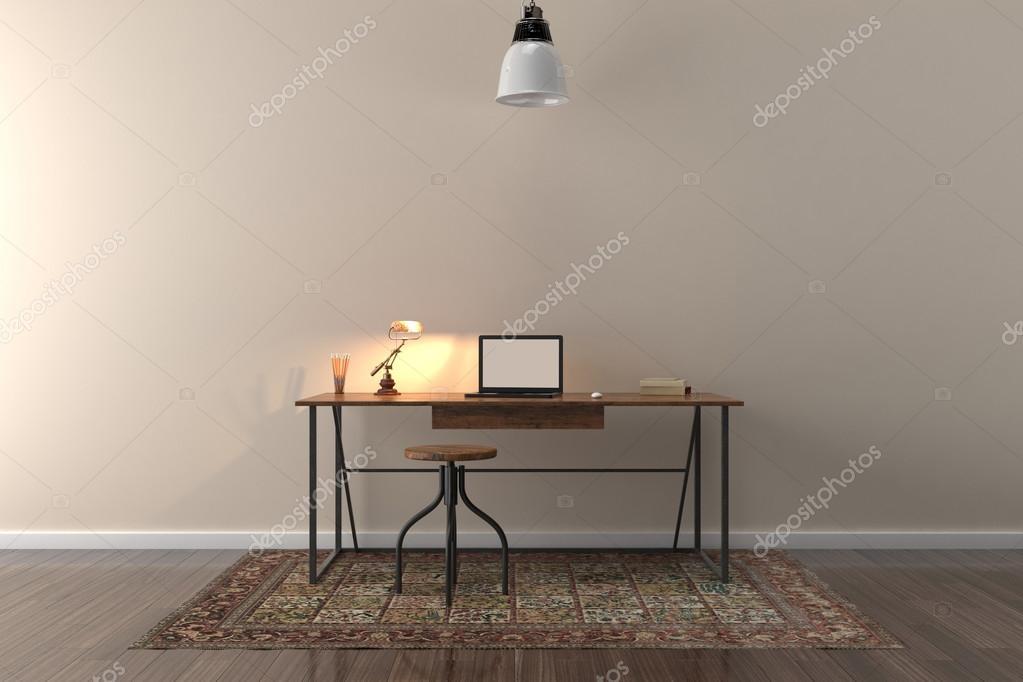 Sfondo Desktop Stanza Ufficio : Area di lavoro o di sfondo u foto stock sirastockid